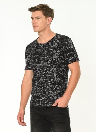 Lee Cooper Desenli T-Shirt Siyah